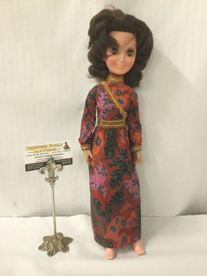 1972 Aimee Elegant Doll by Hasbro. Measures approximately 18x6x2.5 inches. JRL
