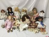 13x porcelain, composite and vinyl dolls. Menie, the doll artworks, and more. Largest doll measures
