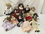 13x porcelain, composite and vinyl dolls. Broadway collection and more. Largest doll measures
