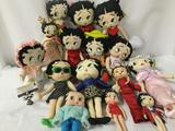 Fifteen cloth and composite Betty Boop Dolls. From makers Sugar Loaf, Kelleytoy, and KFS. JRL