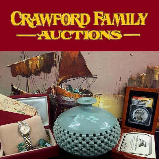 Gold Jewelry, Lithos, Coins & Antiques Auction
