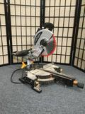 Chicago Electric 10 inch compound slide Miter Saw. Runs at 5,000 RPM, 60HZ, 15A, 120VAC