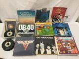 Lot of over 100 vinyl lps & singles - 2 vintage tour programs, 77 beach boys, Olivia Newton John etc