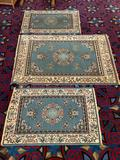 Lot of 3 matching Sharma - Bahia collection wool rugs / carpets