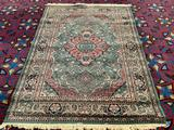 Large rainbow brand area rug with classic design and fun color palette - made in Turkey