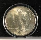 1924-P CH MS quality silver Peace Dollar
