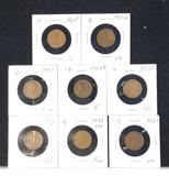 Eight early Lincoln cents - all pre-1915