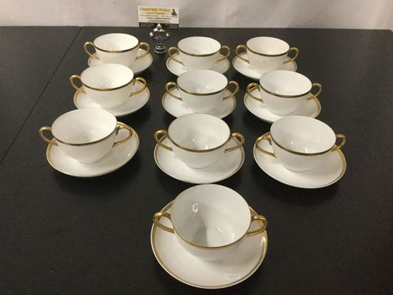 20 pc set of vintage Hutschenreuther - Norfolk tea cups & saucers, made in Selb - Bavaria