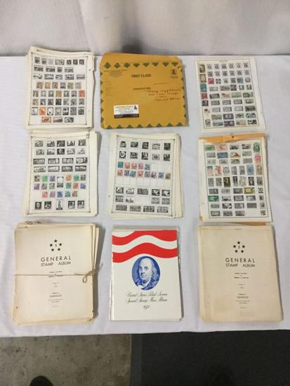 Large lot of antique and vintage stamps incl. 20th century German stamps, 30's-40's Hungarian,