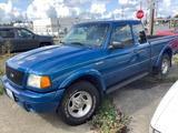 Well maintained 2001 metallic blue Ford Range 4x4 super cab truck w/ 86032 miles - great engine!