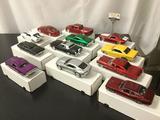 12 die-cast 1:24 scale car replicas incl. Maisto & Jada Toys - 70 Chevy Nova SS, 59 Camaro,