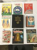 Lot of 11 stamp albums w/ various collections incl. 19th & 20th Century US stamps - see pics/desc