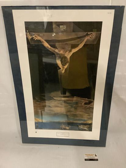 1951 NYGS Limited Salvador Dali poster print Christ of St. John of The Cross, printed in Italy,