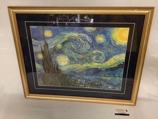 Framed print of Vincent van Gogh - Starry Night approx 31x24 inches