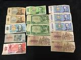 14 vintage Czechoslovakian Korun Bank Notes from the 60's - 80's , see desc