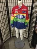 Colorful Dupont racing jacket in good condition - size medium