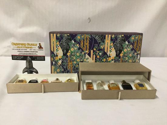 Vintage Japanese...Shiseido perfume set in gift box. Sylvia, Ginza Tokyo, Jasmine and more!