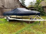 1988 GLA 18 ft Open Bow boat w/ inboard mercury 4 cylinder 3.0 inline motor, + 88 glst boat trailer