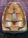 Antique wooden dingy/small sailboat (single sail) for 1 person - fair cond