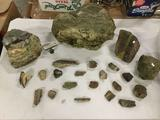 Lot of crystals, minerals, rocks, and geological oddities incl. several from Colombia River Gorge