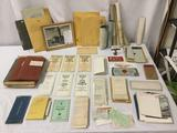 Big lot of vintage locomotive railroad plans, inspections, tickets, blueprints and much more!