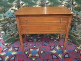 Vintage Rockford maple colonial style dresser with two drawers - nice piece