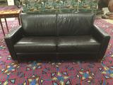 Black Macy's leather couch in great condition