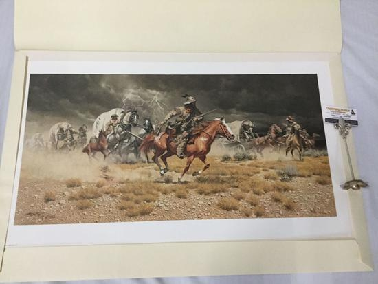 "Frank McCarthy ""Spooked"" by the ltd ed litho signed & #'d 776/1000 by Greenwich Workshop"