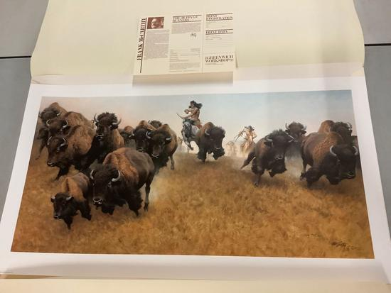 """The Buffalo Runner"" by Frank McCarthy signed & #'d 776/1000 limited edition print"