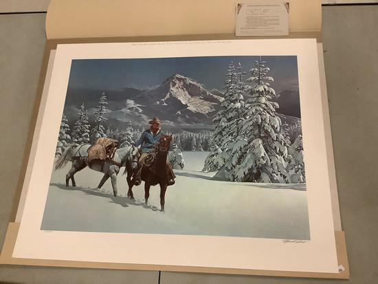 "Chuck Ren limited edition & #'d 183/600 print - signed by that artist - ""First Snow"""