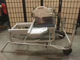 Rigid table saw No. BK091401213, attached to a wheeled cart. Tested and working