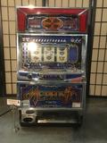 Yamasa Co. Memphis Type-B slot machine No. 6246283. Machine takes Yen only, which is provided.
