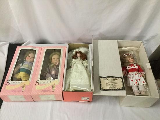 Doll lot; Bradley?s Dolls Bride Kathrine 90/1500 Maryse Nicole 117/1000 2x Gorham Jellybean /