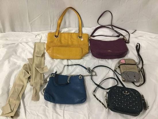 5x ladies purses handbags shoulder bags plus bag hanger Coach Michael Kors elephant