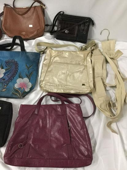 9x ladies purses handbags shoulderbag plus bag hanger Coach Baggallini Anuschka Sak