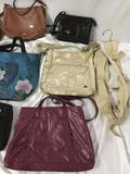 9x ladies purses handbags shoulderbag plus bag hanger Coach Baggallini Anuschka Sak