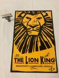 Walt Disney The Lion King Broadway Musical cast signed autograph poster approx 14x22 inches