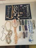 Beautiful collection of estate necklaces, bracelets, and earrings