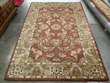 Nourison- Ancient Empire Collection handmade wool rug, made in India, Sonoma Rust 5 x 8 ft