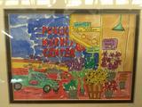 Colorful hand signed & #'d 40/350 Seattle Pike Place Public Market ltd ed watercolor print