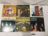Lot of 12 classic rock vinyl records / LPs. The Doors, Jimi Hendrix, the Beatles, Rolling Stones and