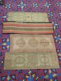4 antique Asian style runner rugs incl. 1 colorblock pattern rug & 3 w/ classic designs