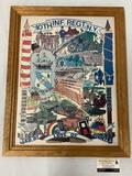 Framed print by MJ Stengal, 10th INF. REGT. N.Y., Led By Love Of Country, military service artwork,