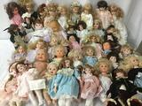 Forty vinyl and porcelain dolls: Westminster, Ganz, Berenguer, Emerald Doll Collection, TBC