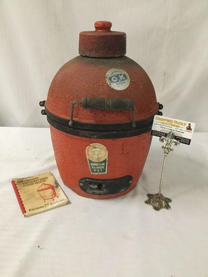 Used Kinuurayaki barbecue Kamado smoker pot.