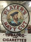 Vintage reproduction of Players Navy Cut tobacco and cigarettes advertising mirror. Measures approx