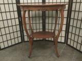 Antique early 1900s mahogany parlor table, approx. 27x20x30 inches. JRL