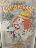 Framed 1988 official Milwaukee 25th anniversary Great Circus Parade poster