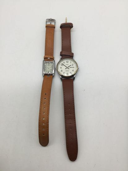 Pair of Timex watches, one is Indglo WR 350m.