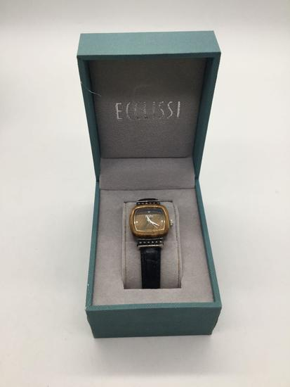 Ecclissi sterling silver watch with box.